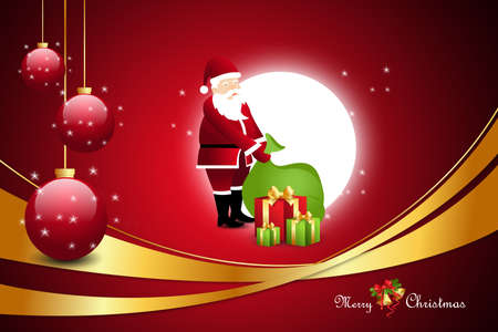 santaclaus: Christmas  gift box with santaclaus Stock Photo