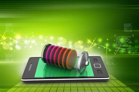 Smart phone charging with battery photo