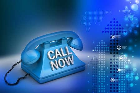 hot secretary: Call now concept Stock Photo