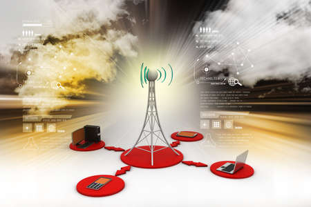 tv tower: Signal tower with networking