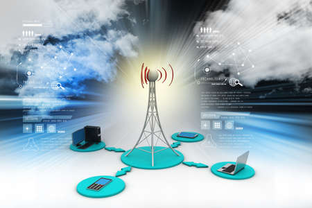 cell phone transmitter tower: Signal tower with networking