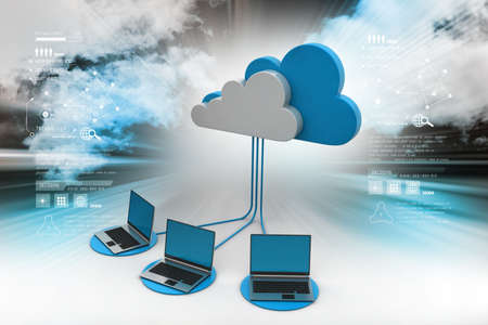 Concepts cloud computing devices Banque d'images