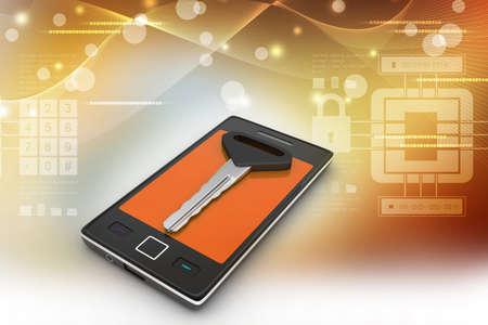 Smart phone with key photo