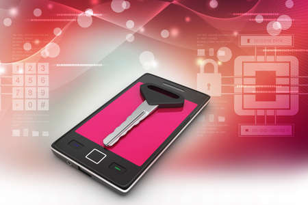 spy ware: Smart phone with key