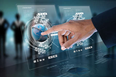 Smart hand showing futuristic technology