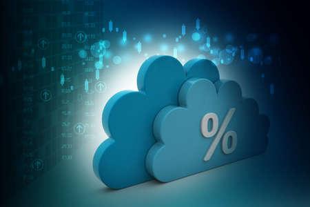 percentage: Percentage sign in cloud
