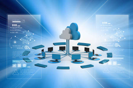 information medium: Concepts cloud computing devices Stock Photo