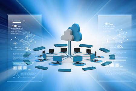 Konzepte Cloud Computing-Geräte Standard-Bild - 35953244