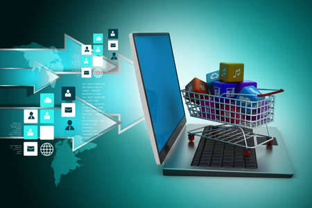 Internet and Online Shopping Concept Imagens
