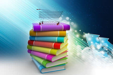 hand truck: hand truck with books