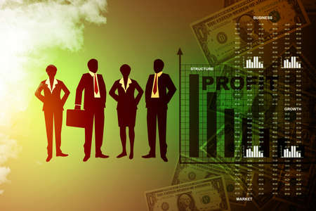 people showing a financial report photo