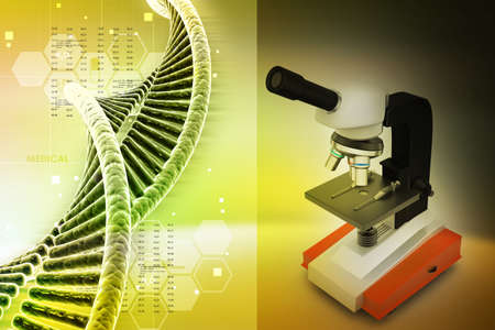 microscopy: microscope on abstract background