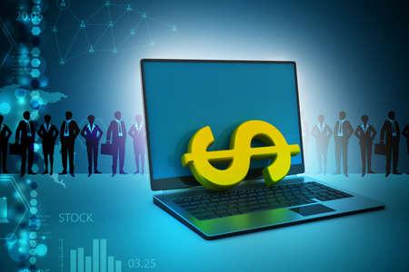 computerized: Online money making concept