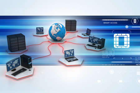 Global computer networking Stock Photo