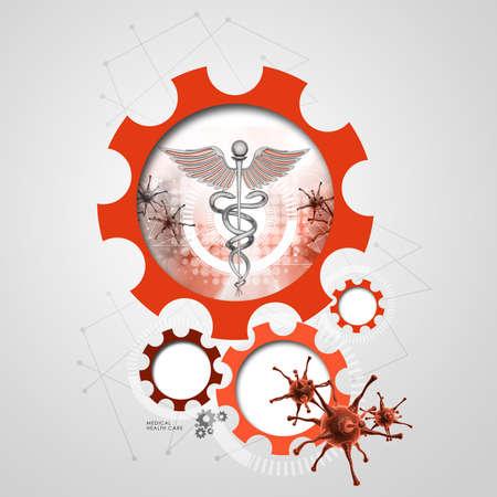 well being: caduceus medical symbol Stock Photo