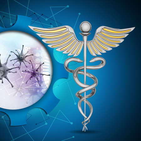 caduceus medical symbol: caduceus medical symbol Stock Photo