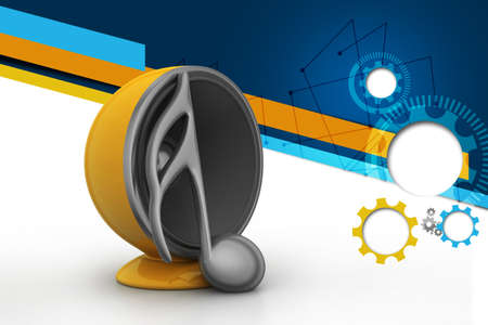 acoustic systems: Speaker with music sign