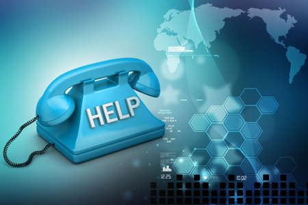 toll free: Help desk concept Stock Photo