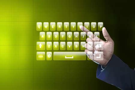 computer keys: Man showing computer keys Stock Photo