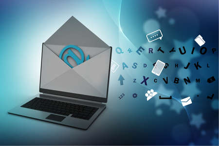 Email and laptop