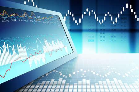 Stock market graph analysis Archivio Fotografico