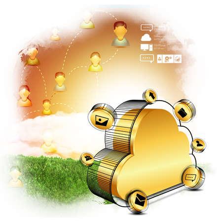 cloud computing concept: cloud computing concept