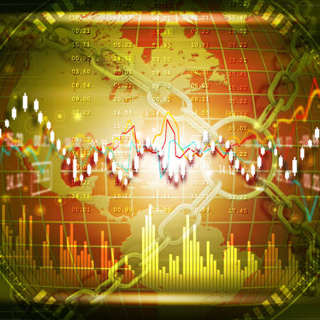 Stock market graph analysis Banque d'images