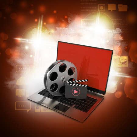 Laptop mit Rollen Standard-Bild - 41522725