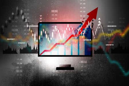 Stock market business graph