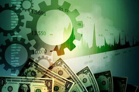 monetary: Monetary concept and market analysing graph Stock Photo