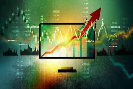 Aktienmarkt Business-Grafik Standard-Bild - 41522090