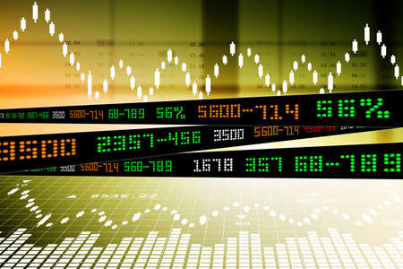 Data analyzing in stock market Stock Photo