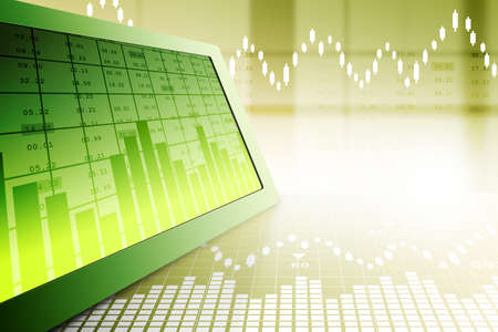 Stock market graph analysis Stock Photo