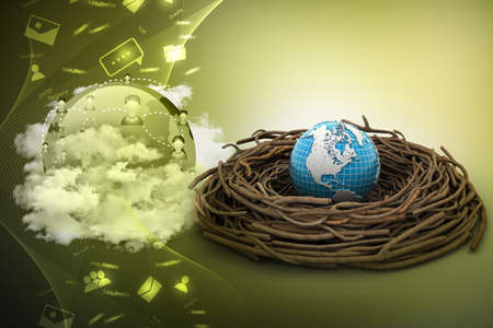 global rates: International investments and global finance Stock Photo