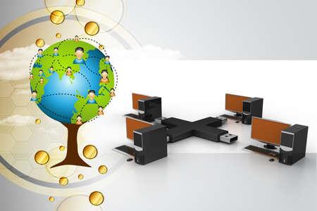computer net: Usb with computer net work