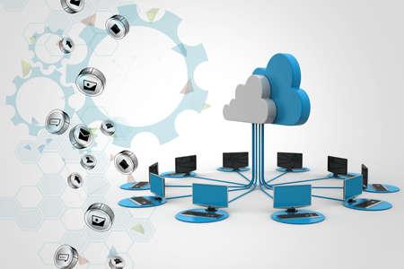 information medium: Concepts cloud computing devices Stock Photo