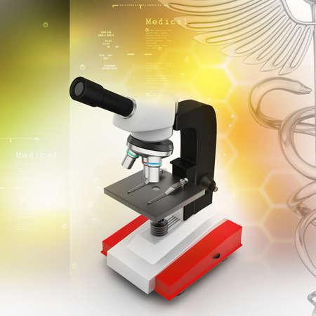 piastrine: Microscopio con piastrine e virus in colore di sfondo