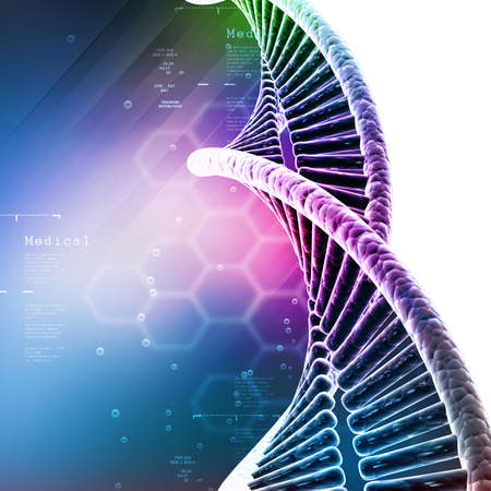 DNA in color background Stock Photo