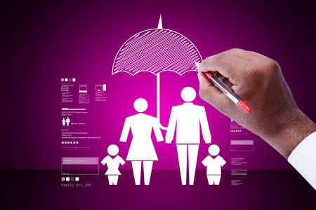 matrimonial: Man writing family icon
