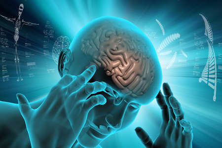 Vertegenwoordiging van het menselijk brein Stockfoto - 79941763