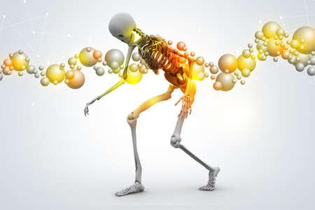 Man Skelton Stock Photo