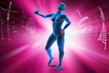Human body showing pain