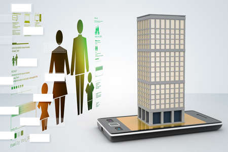 smart phone with real estate concept