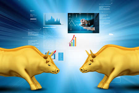 Stock market growth concept