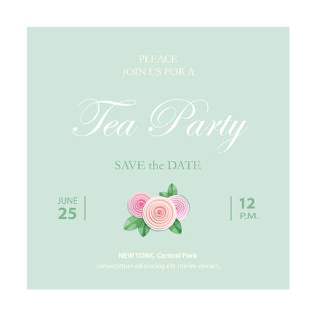 Save the date invitation card. Wedding template with sample text. Vector