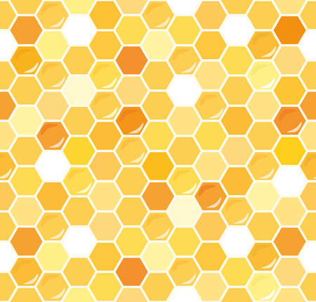 Honeycomb seamless pattern background. Vector illustration EPS10.