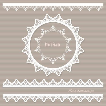 Decorative elements set for wedding, baby shower, scrapbook design.