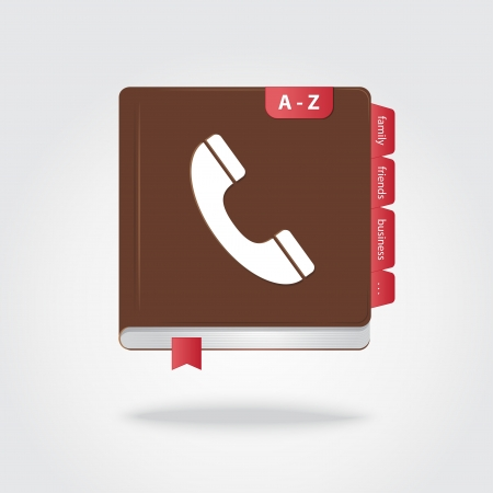 contacting: Phone book icon