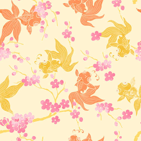 Goldfish pattern wallpaper