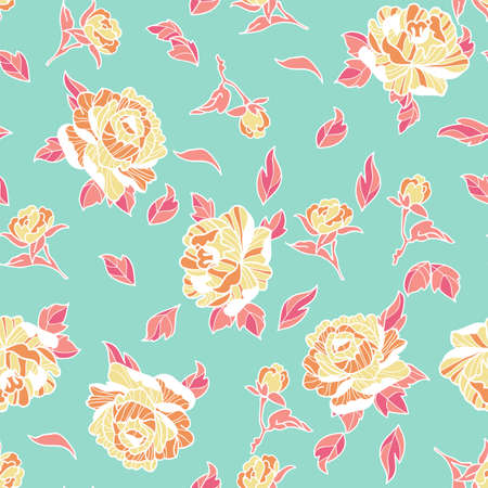 peony pattern wallpaper